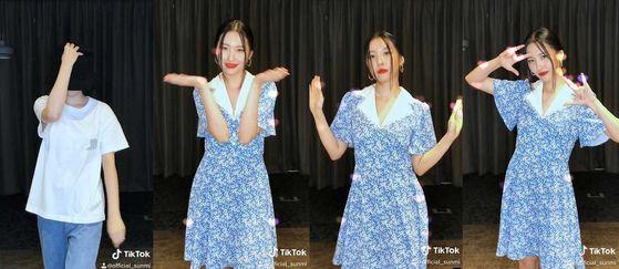 Singer Sunmi's new TikTok challenge [MAKEUS ENTERTAINMENT]