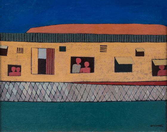 """Shanty"" by Kim Whanki, painted in 1951. [MMCA]"