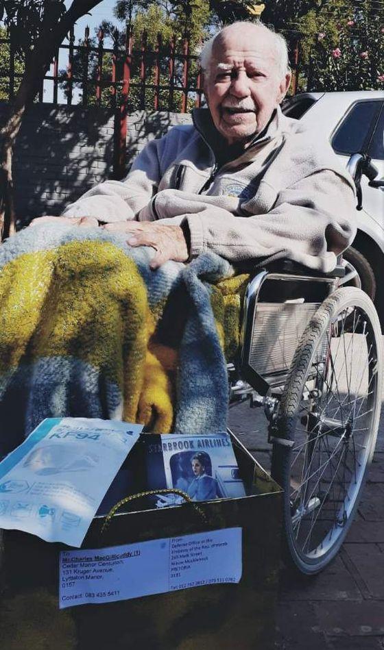 Photo of Korean War veteran Charles MacGillicuddy taken by his granddaughter on June 9 in South Africa. [SIOBHAN MACGILLICUDDY]