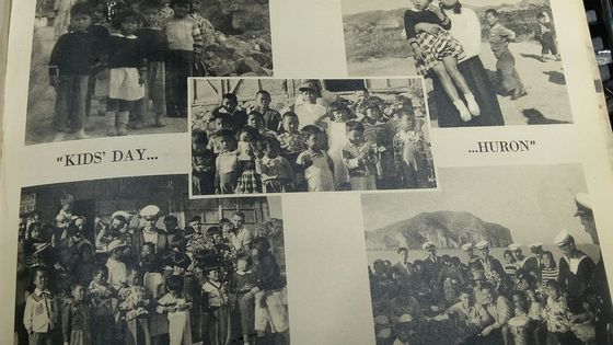 Photos provided by Bill Black, of Canadian sailors spending time with orphans in Korea in 1953. [BILL BLACK]