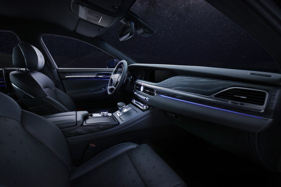 The interior of the Genesis G90's Stardust edition. [HYUNDAI MOTOR]