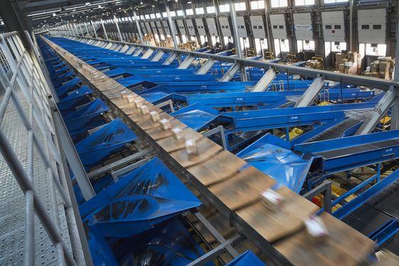 Deliveries are processed at a CJ Logistics distribution center. [CJ LOGISTICS]