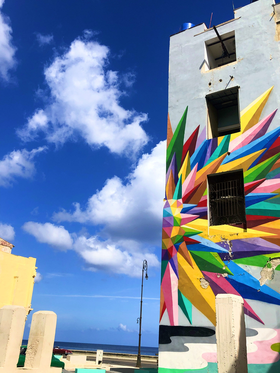 Havana's colorful streets pictured a few days after the country reported its first Covid-19 cases. [JIM BULLEY]