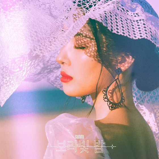 """The digital cover image for Sunmi's """"pporappippam"""" [MAKEUS ENTERTAINMENT]"""