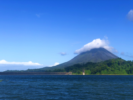 Costa Rica's Arenal Volcano in mid-March, two weeks before the country banned all but essential travel. [JIM BULLEY]