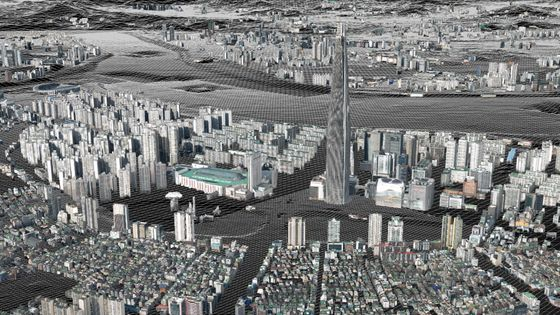 A screenshot of Naver Labs' 3-D map of Seoul. [NAVER LABS]