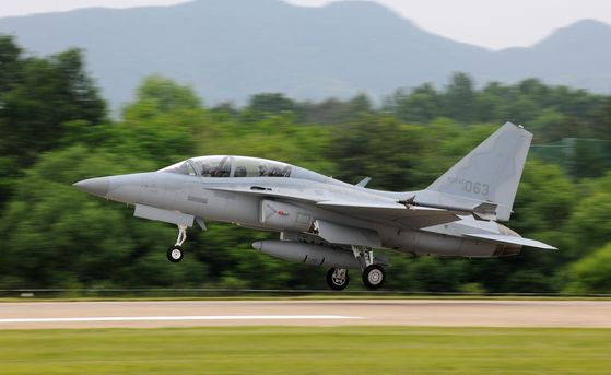 Korea Aerospace Industries' TA-50 trainer jet taking off. [KAI]