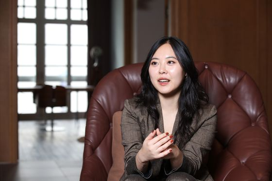 Sharon Choi during an interview with the JoongAng Ilbo in central Seoul on Wednesday. [WOO SANG-JO]