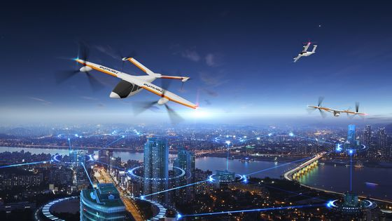 An image of Hanwha Systems' flying taxi. [HANWHA SYSTEMS]