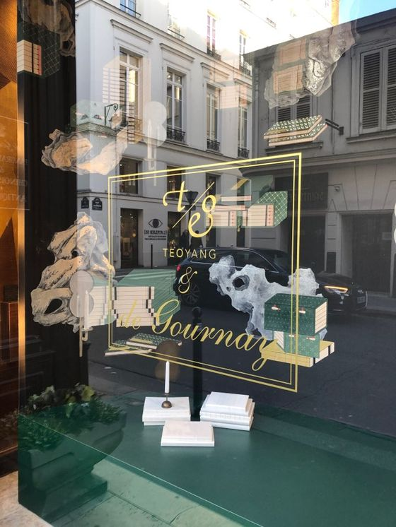 """Art of Learning"" displayed at de Gournay's flagship store in Paris. [TEO YANG STUDIO]"