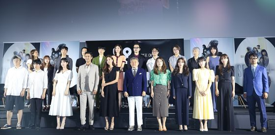 """Actors and directors for crossover sci-fi project """"SF8"""" attended the press event in CGV Yongsan branch in central Seoul on Wednesday to introduce their stories. [NEWS1]"""