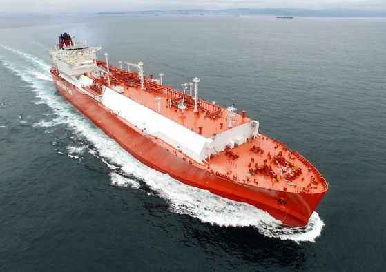 An LNG vessel constructed by Hyundai Heavy Industries. [HYUNDAI HEAVY INDUSTRIES]