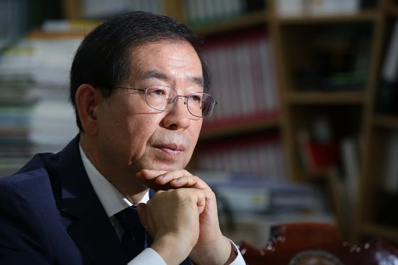 Former Seoul Mayor Park Won-soon, photographed in 2014. [JOONGANG ILBO]