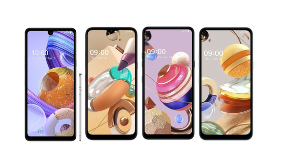 LG Electronics' K series budget smartphones [YONHAP]