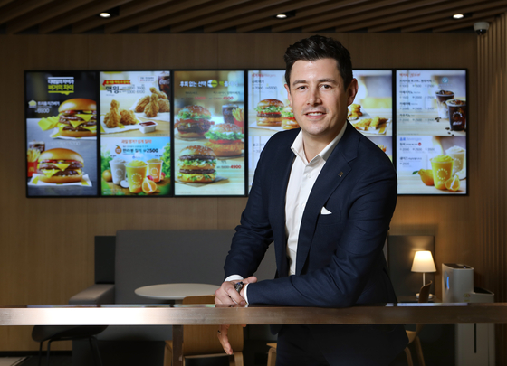 McDonald's Korea Managing Director Antoni Martinez poses during an interview with the Korea JoongAng Daily at the company headquarters in Jongno District, central Seoul, on July 1. [PARK SANG-MOON]
