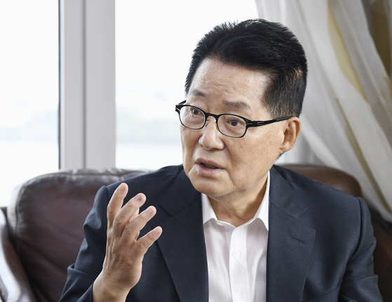 Park Jie-won, nominee to head the National Intelligence Service (NIS).  [YONHAP]