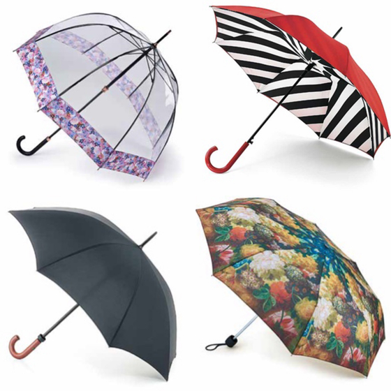 A variety of umbrellas by Fulton. [FULTON]
