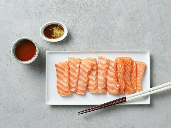 Norwegian salmon from Market Kurly. [MARKET KURLY]