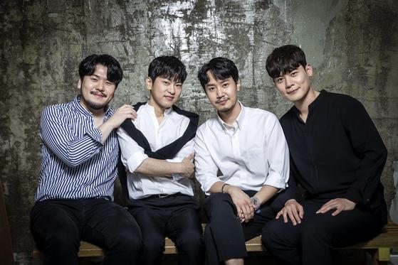 "The four members of La Poem, the winner of JTBC's entertainment show ""Phantom Singer 3."" [JANG JIN-YOUNG]"