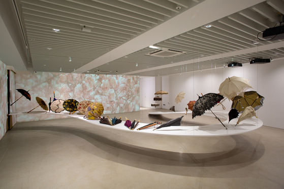 A display of many different umbrellas during an exhibition in Korea last year [PLATFORM-L]