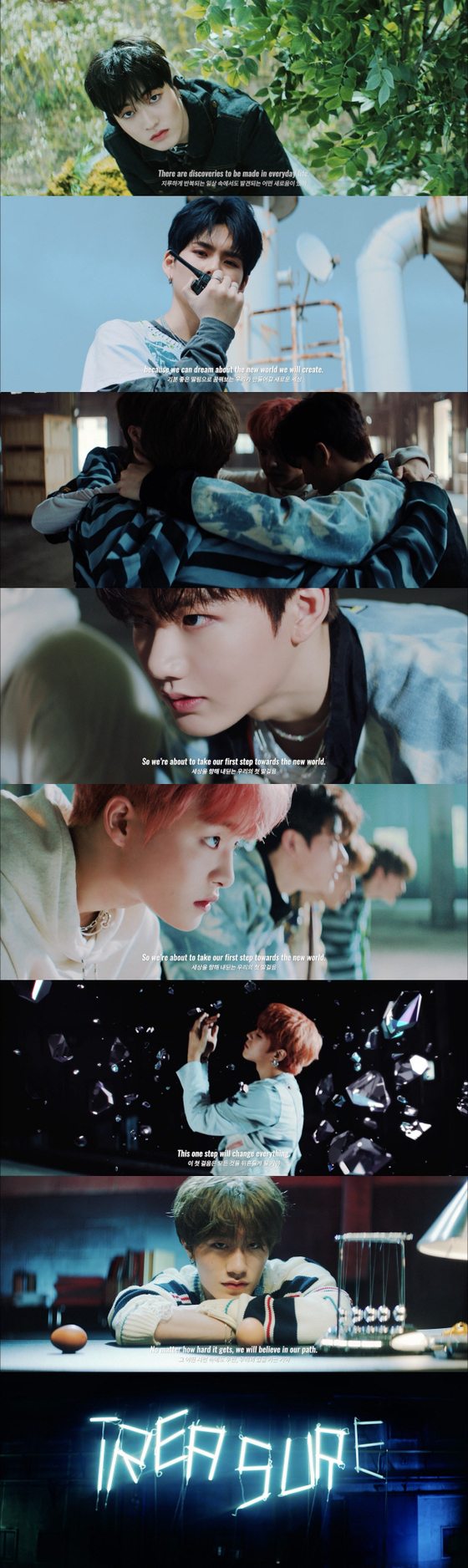 Scenes from a promotional video for Treasure. [YG ENTERTAINMENT]