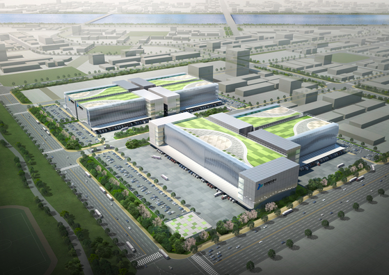 An aerial view of the proposed cold chain cluster, one of the projects Kogas is actively participating in. [INCHEON PORT AUTHORITY (IPA)]