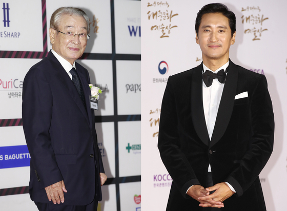 Actors Lee Sun-jae, left, and Shin Hyun-joon [NEWS1, YONHAP]