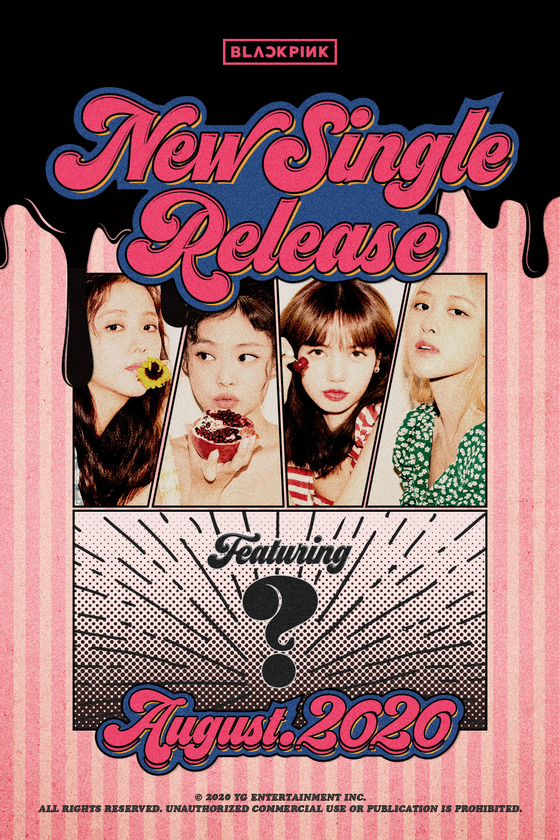 Blackpink's teaser poster for the new track [YG ENTERTAINMENT]