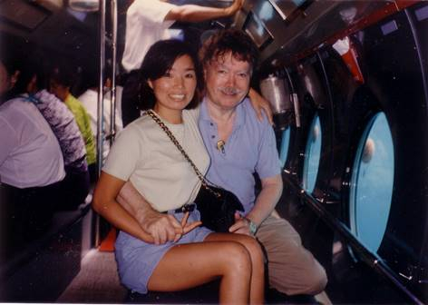 Courtenay with his wife Makye in Jeju Island in 1998. [VINCENT COURTENAY]