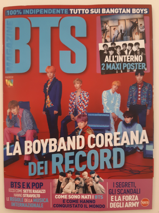 This image shows the June launch issue of BTS, a bimonthly Italian magazine on all things related to K-pop band BTS, from Italian publishing house Sprea S.p.A. [YONHAP]