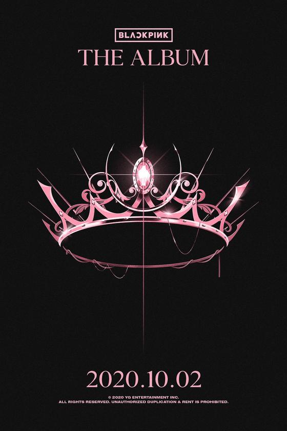 Poster image for Blackpink's upcoming full-length album [YG ENTERTAINMENT]