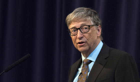 Bill Gates, co-founder of Microsoft and co-chair of the Bill & Melinda Gates Foundation, expressed optimism in Korea's leadership in the development of a coronavirus vaccine. [YONHAP]