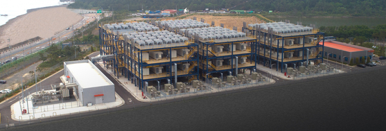 The world's first byproduct hydrogen fuel cell power plant in Seosan, South Chungcheong. [DOOSAN FUEL CELL]