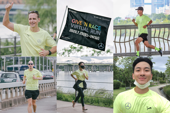 "Participants individually take part in the 2020 'Give 'N Race Virtual Run."" [MERCEDES-BENZ]"