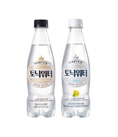 Lotte Chilsung Beverage's new tonic water products: Master Tonic Water and Master Tonic Water Zero. [LOTTE CHILSUNG BEVERAGE]