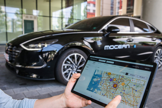 A device from MoceanLab, a U.S. company owned by Hyundai Motor, will be installed in SoCar vehicles to collect data.