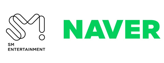 Logo of SM Entertainment and Naver.