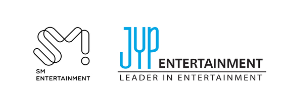 SM Entertainment, left, and JYP Entertainment