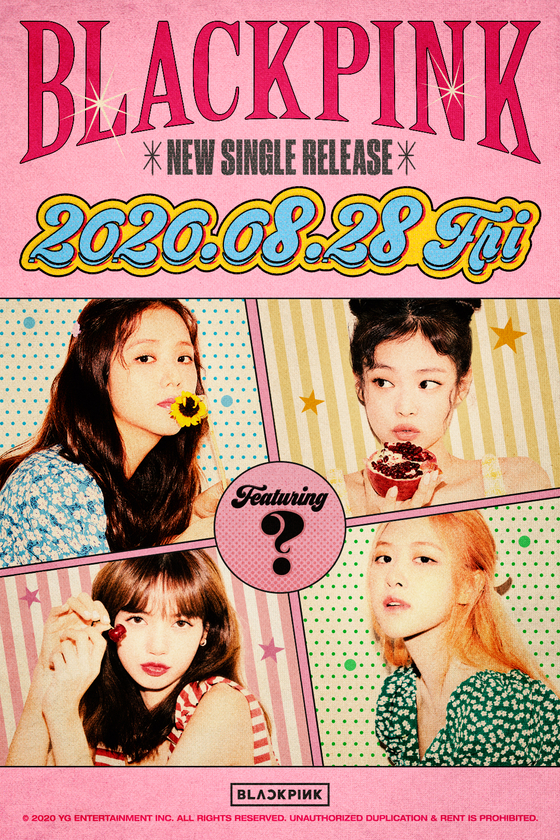 The poster for Blackpink's new single [YG ENTERTAINMENT]