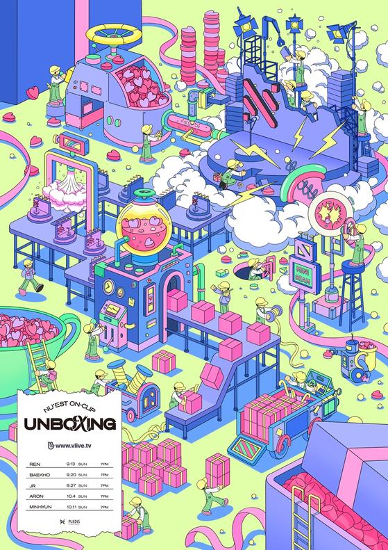 "Boy band NU'EST's upcoming video series ""Unboxing"" [PLEDIS ENTERTAINMENT]"