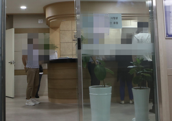 A psychiatrist was stabbed to death by a patient at his own hospital in Busan on Wednesday morning. [SONG BONG-GEUN]