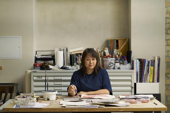 Japanese artist Chiharu Shiota at her studio in Berlin, Germany. [CHIHARU SHIOTA]