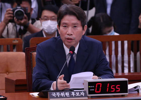 "In a confirmation hearing on July 23, Unification Minister nominee Lee In-young says the government ""holds no views"" about the issue of reducing or withdrawing American forces. [OH JONG-TAEK]"