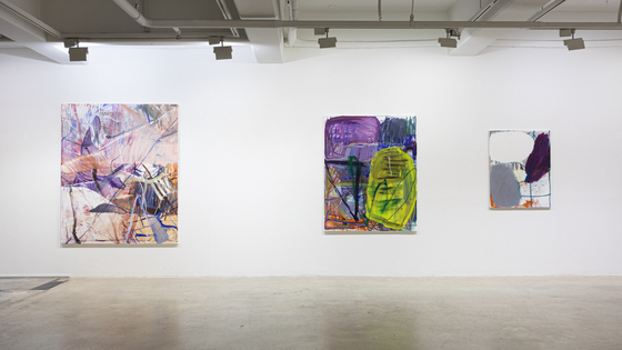 "Leeahn Gallery Daegu's new abstract art installation, ""Hangover Boogie."" [LEEAHN GALLERY]"