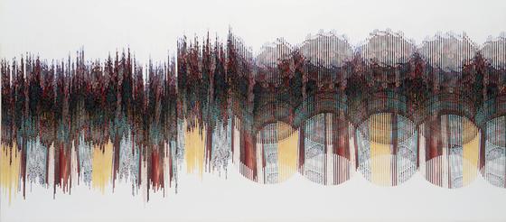 """Chong Jae-kyoo's """"Gyeongju Bulguksa-Geukrakjeon"""" (1994) [DAEGU ART MUSEUM]"""