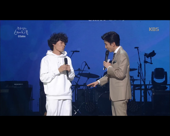 "O3ohn features on KBS music show ""Yoo Hee-yeol's Sketchbook"" on May 5, 2018. [SCREEN CAPTURE]"