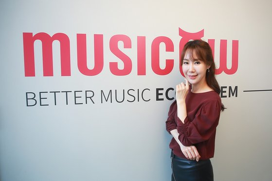 Jung Hyun-kyung, co-CEO of Musicow, poses for a photo. [MUSICOW]