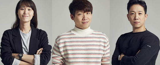 From left: Producers Kwon Sung-min, Park Jin-kyung and Moon Sang-don [KAKAO M]