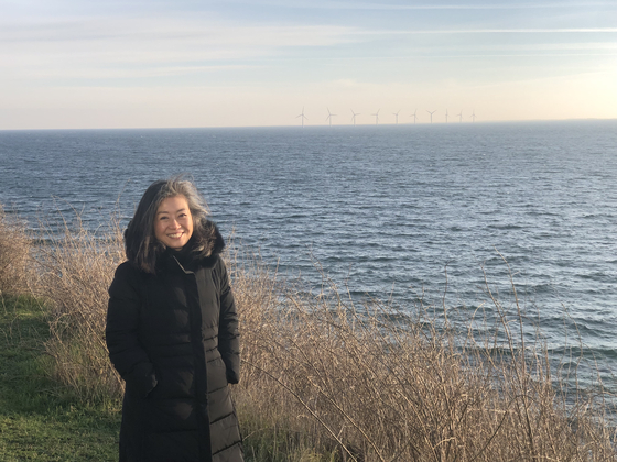 Yangyi at Denmark's zero-carbon island, Samso Island, in 2019. [YANGYI WON-YOUNG]