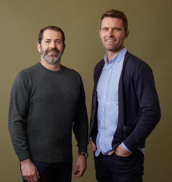 Allbirds' co-founders Joey Zwillinger, left, and Tim Brown. [ALLBIRDS]